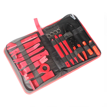 18 Pcs Set Car Door Panel Trim Dashboard Clips Pliers Screwdriver Fastener Removal Tools Kit