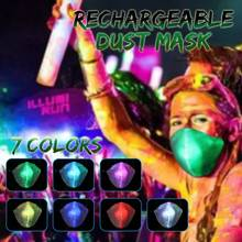 Safurance 7 Colors LED Anti Dust Mask PM2.5 Changeable Luminous Novelty Lights Mask With USB Charge Masks For Party