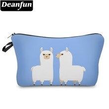 Deanfun Waterproof Cosmetic Bag Printing Love Llamas Roomy Makeup Toiletry Storage Pouch Neceser Gift  51366