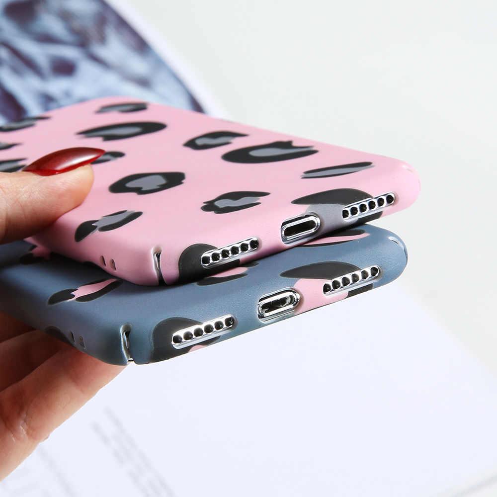 Kisscase Nhiều Màu Sắc Da Báo Dành Cho Huawei P10 P20 Lite Giao Phối 10 20 Lite Cứng PC Xanh Dương Trong Cho Huawei honor 9 10 Màu Đen