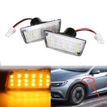 Светодиодный боковые габаритные огни автомобиля сбоку боковой указатель поворота сигнальная лампа для Opel для Vauxhall для автомобиль Chevrolet сторона индикатор