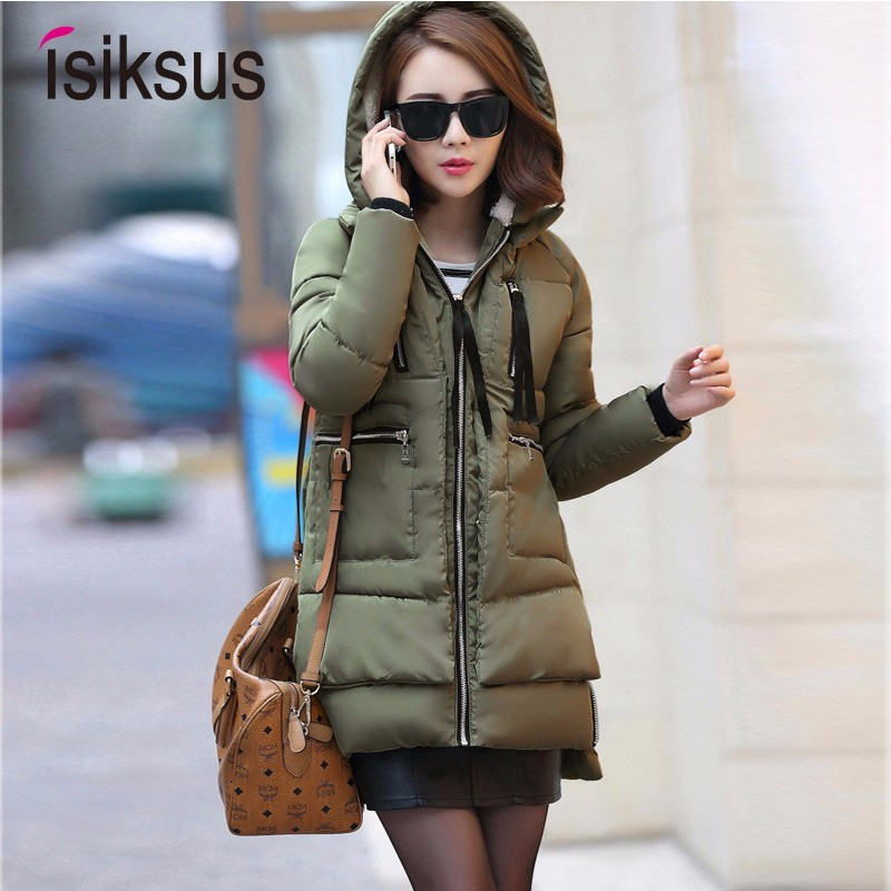Isiksus Warm Padded Winter Jacket Women Long Plus Size Black Thick Fur Coat Hooded Coats And Jackets   Parkas   4XL for Women WP019