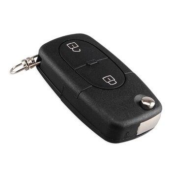 Chiave Telecomando per Audi A2 A3 A4 A6 Old Models CR1620/CR1616 2 Button Flip Folding Remote Key Case Shell 1