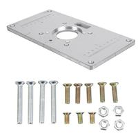Woodworking Router Table Insert Plate Woodworking Workbench Machinery Tools Parts 235 X 120 X 8 mm