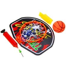 купить Indoor Plastic Mini Basketball Backboard Hoop Net Set With Basket Ball For Kids Child Game Portable Basketball Backboard Hot по цене 410.33 рублей