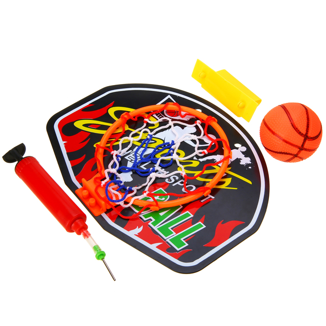 1e4b8bb470a Indoor Plastic Mini Basketball Backboard Hoop Net Set With Basket Ball For Kids  Child Game Portable