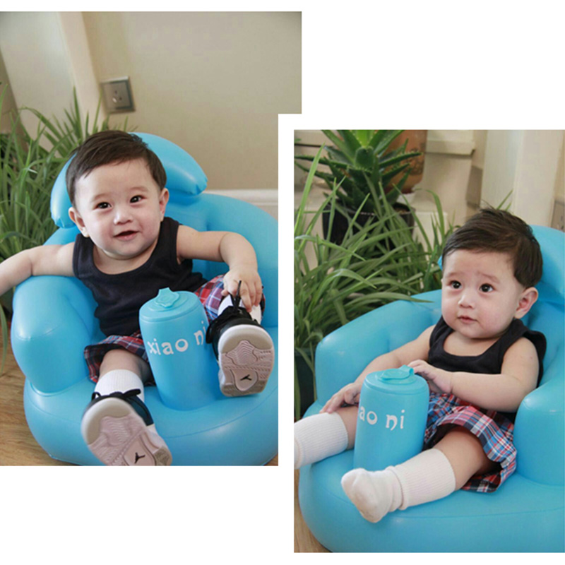 Baby Kid Children Inflatable Bathroom Sofa Chair Seat Learn Portable Multifunctional YJS Dropship