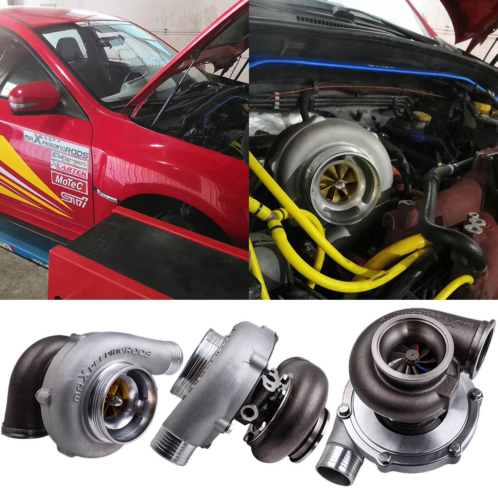 GT3076 Racing Turbocharger V Band Flange A/R 0.63 .82 Wet Float Water Cooling  anti surge Power up to 580HP   600HP A/R .63|Turbocharger| |  - title=