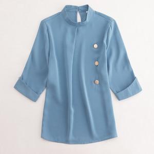 Image 5 - Professional Women Plusขนาดเสื้อ2019ใหม่ครึ่งแขนเสื้อชีฟองเสื้อสตรีสำนักงานสุภาพสตรีแฟชั่นอารมณ์หลวมTops