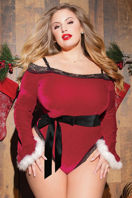 Women Ladies Xmas Sexy Costumes Underwear Christmas 3 Patterns Available Sexy Lingerie Plus Size Lingerie Sexy Erotic Babydoll 1