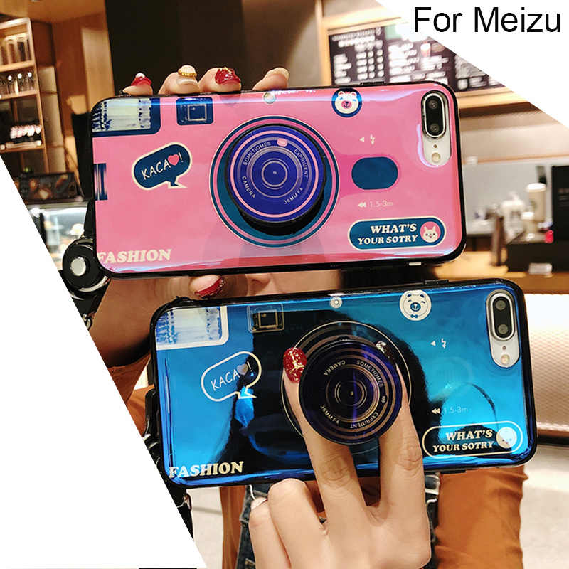 Camera Case Voor meizu 16th plus pro 7 plus m15 Cover voor meizu 15 16th v8 Cover case Met telefoon houder