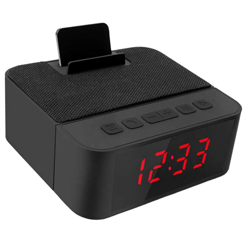 Digital Radio Alarm Clock All-In-One Design With Wireless Speaker,Am/Fm Radio,Usb Charging Port,Snooze,Ac And Battery Operated