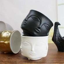 Modern Ceramic Vase Flower Pot Planters Man Face Flower Vase Home Decoration Nordic Minimalist Ceramic Abstract Vase Art Craft