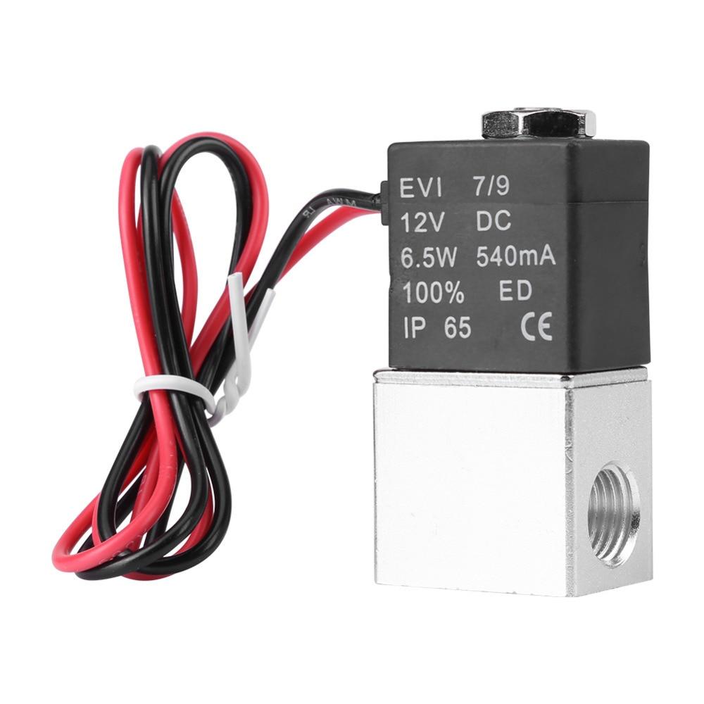 Electric Valve Normally V12V Air Solenoid Valve 1/4