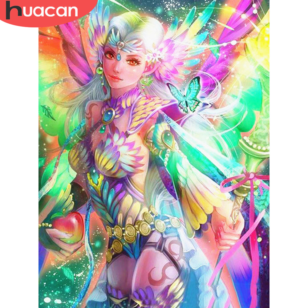 HUACAN 5D DIY Diamond Painting Anime Girl Full Square Embroidery Sale Rhinestone Picture Diamond Mosaic Home Decor GiftHUACAN 5D DIY Diamond Painting Anime Girl Full Square Embroidery Sale Rhinestone Picture Diamond Mosaic Home Decor Gift