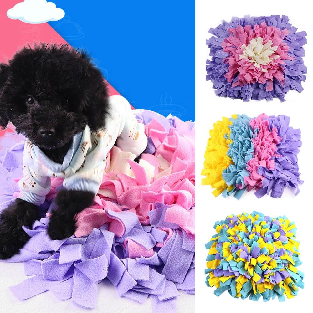Мягкие ПЭТ нос работы запах нюхательный коврик Training Кормление подкормки мастерство одеяло собака играть игровые маты 45x45 см