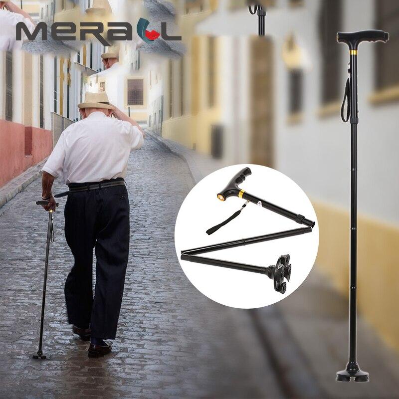 Aggressiv Led Licht Mobility Aids Cane Für Arthritis Senioren Behinderte Ältere Krücke Reise Verstellbare Falten Canes Walking Sticks Mit Gesundheit Effektiv StäRken