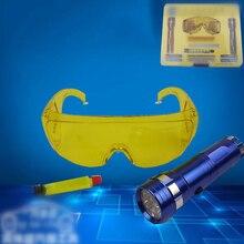 Профессиональный светодиодный фонарик+ защитные очки+ УФ-детектор утечки для системы A/C детектор жидкости газа защитный инструмент для очков Набор тестовых детекторов