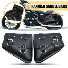 1 пара черные мотоциклетные сумки для седла под сиденьем боковые Инструменты сумка для Harley Davidson Cruiser мотоцикл