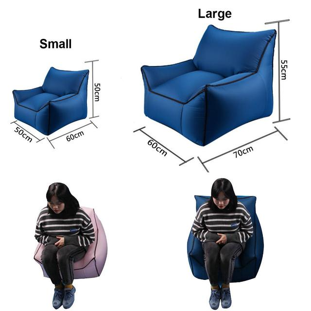 Large Travel Lazy Bag Outdoor Foldable Inflatable Sofa Chair for Beach Garden Outdoor Camping Hiking Picnic Mat Garden Bean Bag 5