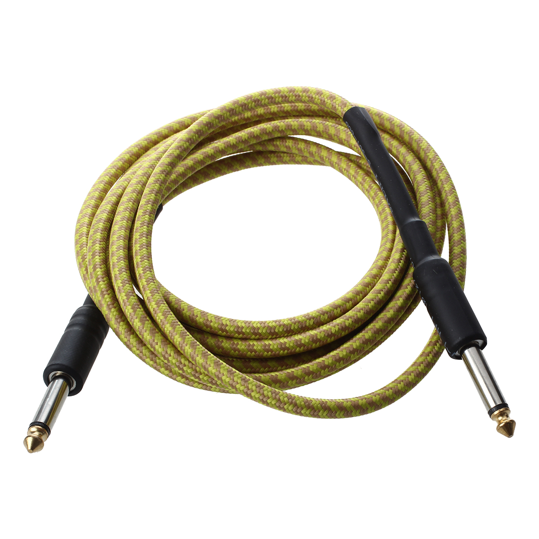 Yellow Connection Cable For Acoustic Guitar Electric Bass 3M