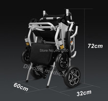 Free shipping to USA 2019 Fashion best sell foldable lightweight electric wheelchair for disabled