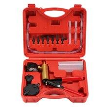 Hand Vakuum Pumpe Druck Tester Kit Brems Flüssigkeit Bleeder Verwenden Test Werkzeug Set mit Adapter Auto Zubehör