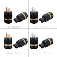Viborg Hi End US AC Power Plug Pure Copper Silver/Gold/Rhodium Plated Available VM501 VF501 Hifi Audio Plug IEC Connectors