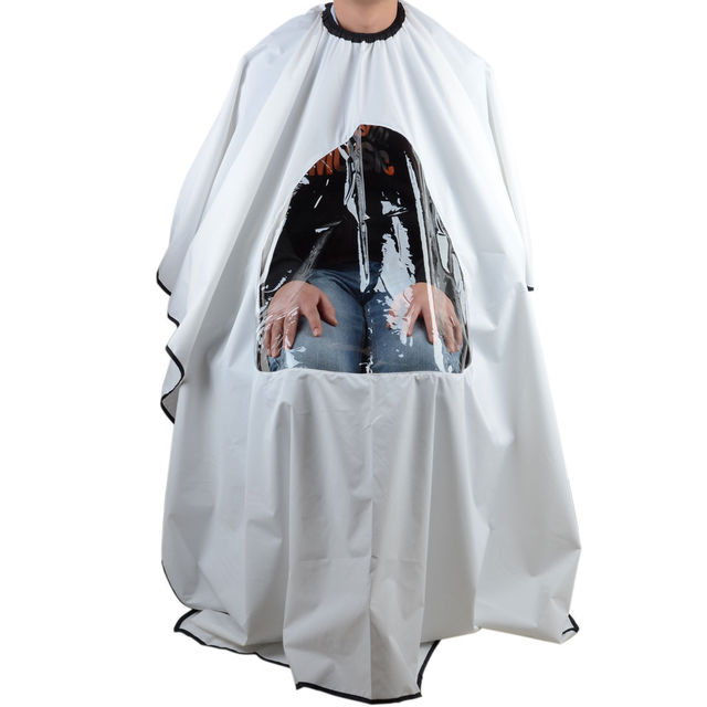 Pro Salon barbier cheveux coupe robe Cape avec fenêtre de visualisation coiffeur Wrap tablier