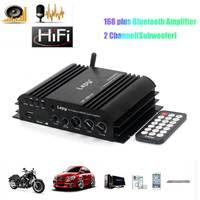 Bluetooth Usb Mini Digital Amplifier Hifi 2ch Subwoofer Amp For Car Home Speaker Amplifiers Car Amplifier Subwoofer Car Audio