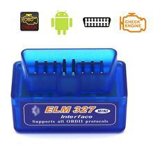 Mini Bluetooth Car OBDII Chẩn Đoán Máy Quét Tự Động Công Cụ ELM 327 V2.1 cho Nó hỗ trợ tất cả các OBD II giao thức. Andriod