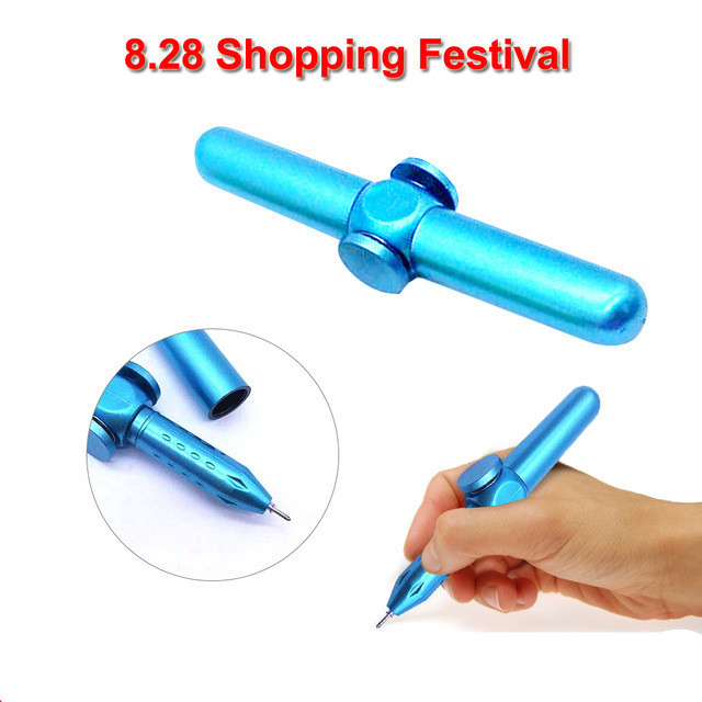 Hand Fidget Spinner Metal Fidget Pen Novelty Fidget Spinner Anti Stress Pen For School Pen Interesting Anxiety Stress Relief Toy