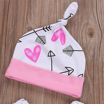 Pudcoco 3PCS Newborn Baby Girls Clothes Set Cotton Soft Long Sleeve Infant Baby Romper Pants Outfit Autumn Girls Clothing in Clothing Sets from Mother Kids