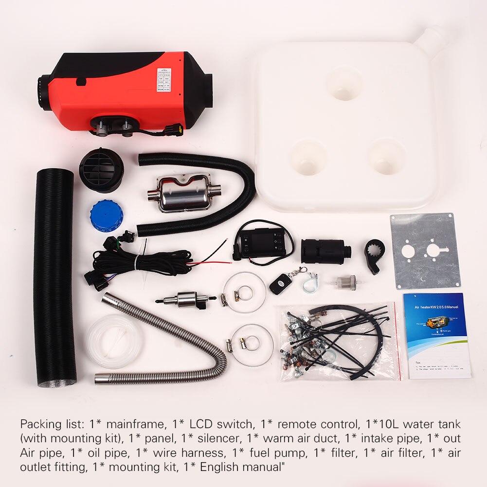 Масляный газовый нагреватель, воздушный Нагреватель, прочный автомобильный обогреватель, трейлер, грузовики, 10л, бак, дизельный тихий 12 в 5000 Вт