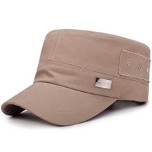 f3661f3a1cb Vintage Army Military Caps Unisex Classic Style Plain Flat Hats Fashion Men  Women Adjustable Captain Hat