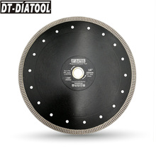 DT-DIATOOL 1piece Diameter 10inch/250mm Diamond Cutting Disc X Mesh Turbo Dry Wet Saw Blade Cutting Wheel for Porcelain Marble