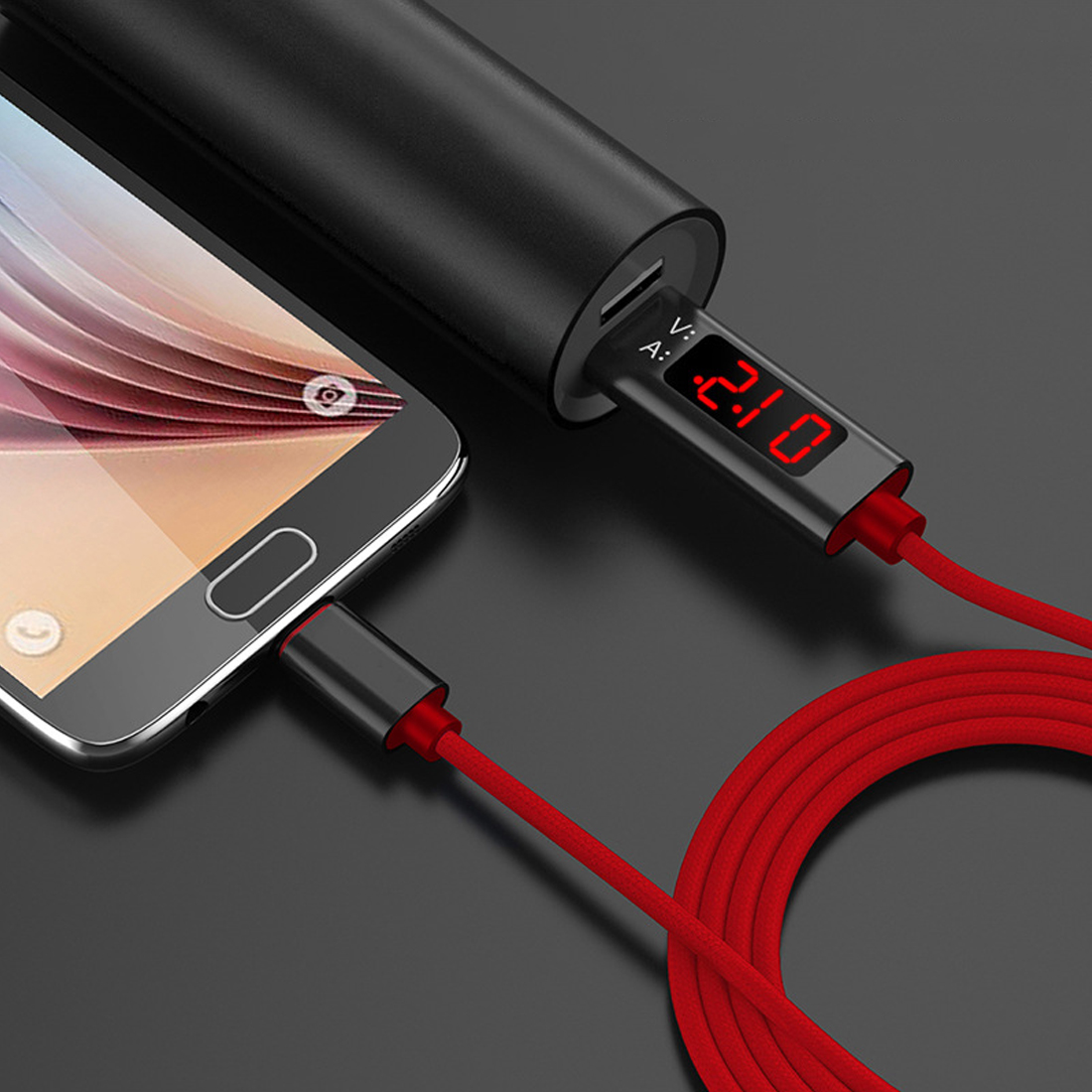New USB For Type C Voltage Current Tester Meter Display Nylon Braided Fast Charging For Type-C Cable For Samsung S9/Android