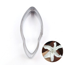 8/6cm Stainless Steel Lily Flower Petal Cutting Mold Designer DIY Make Thai Clay Cutter Tools
