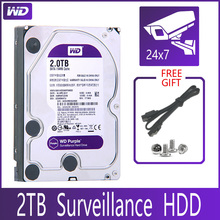 "WD PURPLE Surveillance 2TB Hard Drive Disk SATA III 64M 3.5"" HDD HD Harddisk For Security System Video Recorder DVR NVR CCTV"