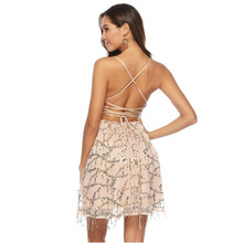 MUXU fashion gold sequin sexy dress vestidos kleider sukienka glitter short suspender backless sundress