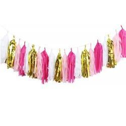 20 шт ткани бумажная гирлянда DIY Kit Ленточки украшения для баннеров детская игрушка в ванную детская для рождественской вечеринки декор