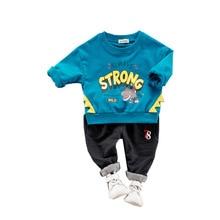 цены на 2019 Spring Toddler Children Clothes Suits Baby Girls Boys Clothing Cotton Dinosaur Kids T Shirt Pants 2Pcs/Sets Infant Costume  в интернет-магазинах