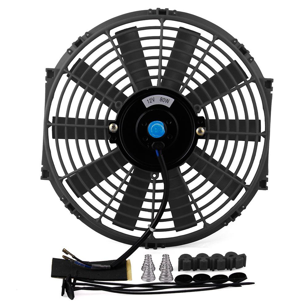 12in 80W Universal Car High Power Pull Racing Electric Radiator 12V Engine Cooling Straight Blade Fan Kit Water Oil Cooler r2012in 80W Universal Car High Power Pull Racing Electric Radiator 12V Engine Cooling Straight Blade Fan Kit Water Oil Cooler r20