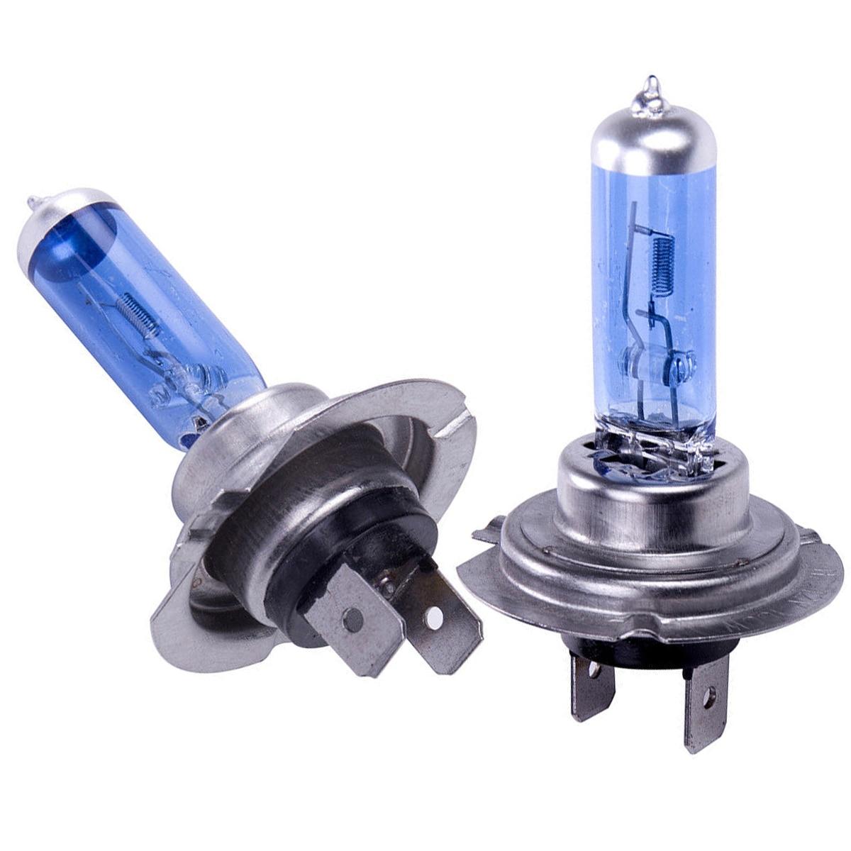 2x H7  100W H7 Headlight Bulbs 8500k Xenon Lamp Hide Super White Effect Headlight Lamps Light Bulbs 12V