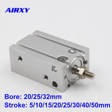 CU/CDU bore 20/25/32mm stroke 5/10/15/20/25/30/40/50mm Double Acting cylinder SMC type free mounting air CDU20-5D
