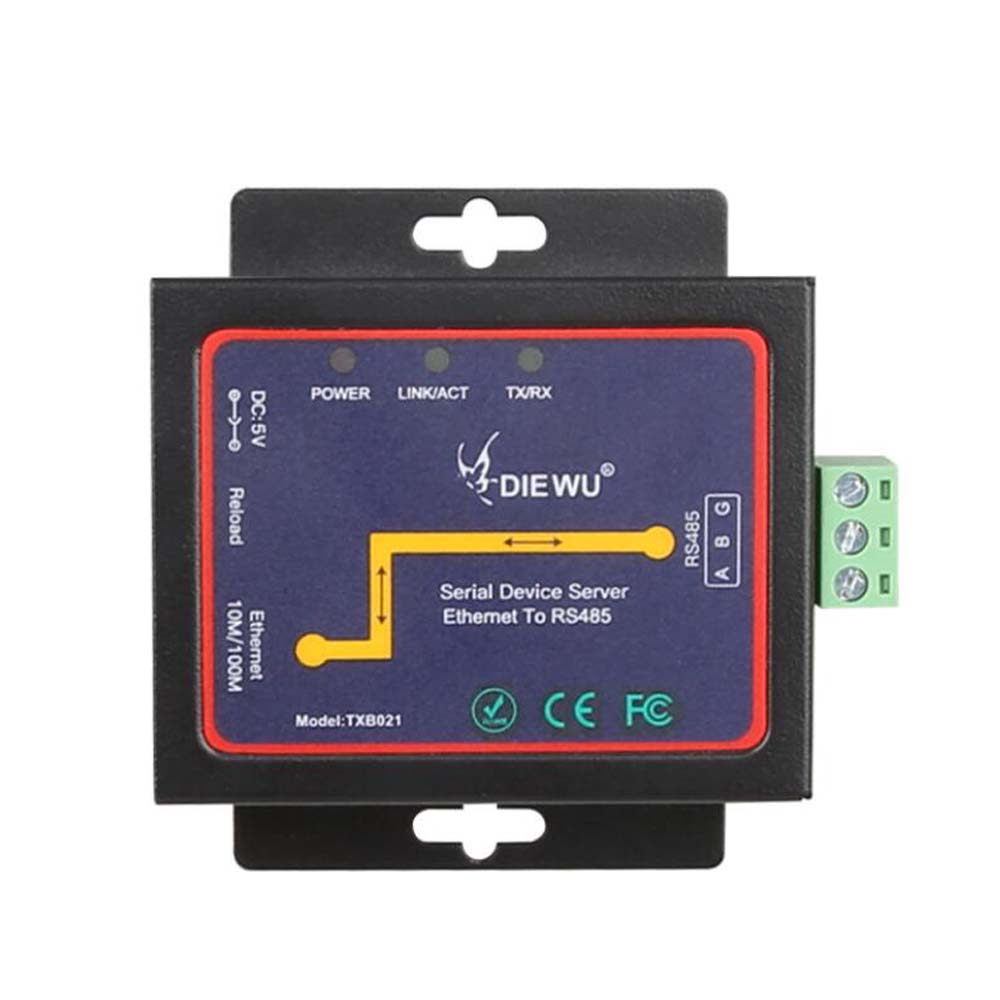 Industrial -grade Serial Device Server Ethernet To RS485  RJ45 To RS485 Support TCP/ RTU/UDP LAN Converter