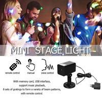 Мини звезды свет этапа светодиодный лазерный проектор голосовой Управление стадии вспышки света для дискотеки, клуба вечерние клуб лампы к