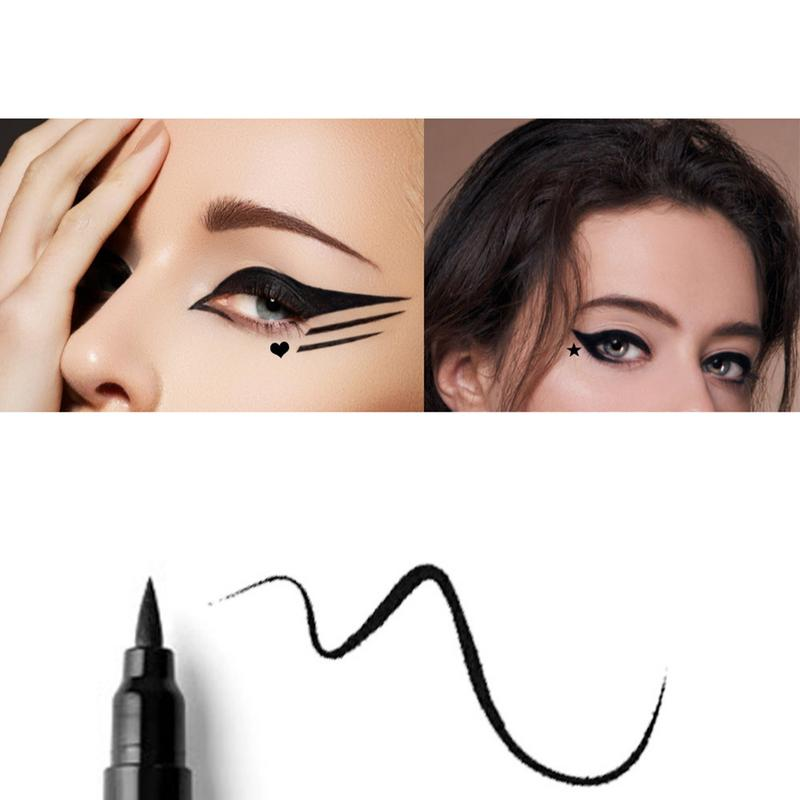 Aikimuse New Sexy Waterproof Black Wing Shape Eyeliner Seal Eyeliner Stamp Pencil Cat Eye Cosmetic Makeup Tool Maquiagem Eyeliner Beauty Essentials