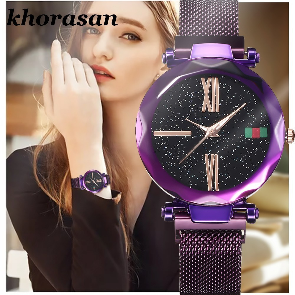 Hot Luxury Women Watches Minimalism Starry Sky Magnet Buckle Fashion Casual Rose Gold Female Wristwatch Waterproof Roman NumeralHot Luxury Women Watches Minimalism Starry Sky Magnet Buckle Fashion Casual Rose Gold Female Wristwatch Waterproof Roman Numeral