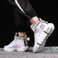 QZHSMY Training Shoes Men white PU Male Comfortable running Shoes winter Breathable sneakers